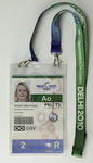 Delhi 2010 medical personnel access pass, issued to team physiotherapist Wendy Braybon.