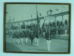 Photograph of Australian athletes marching in ceremony, 1920 Olympic Games