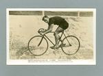 Black and white postcard of E. Tamme,  Winner 6 hrs Team Championship, Sydney 1920