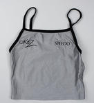 Metallic silver World Tour beach volleyball uniform, worn by Kerri Pottharst circa 2001