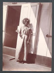 Miss Davies in fancy dress on board 'Ormuz' -  Frank Laver Photograph Album collection