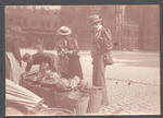 M.A. Noble and wife at outdoor market - Frank Laver Photograph Album collection
