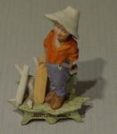Ceramic figurine of a boy cricketer, 'OUT FIRST BALL'