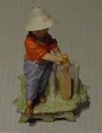 Ceramic figurine of a boy cricketer, 'STILL HOPEFUL'