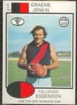 1975 Scanlens VFL Football Graeme Jenkin trade card