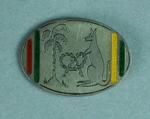 Commemorative pin badge - L. Kline 1960, Australia v West Indies Brisbane test